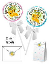 40 LION KING BABY SIMBA BABY SHOWER FAVORS STICKERS for lollipops, goodybags