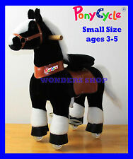 NEW ORIGINAL PONYCYCLE SMALL BLACK WHITE Rock Walk Ride On Toy Horse  Ages 3-5