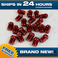 12x1.5 lug nut Red lugnuts for Chevy Ford m12x1.5 steel Acorn Set of 20 pcs