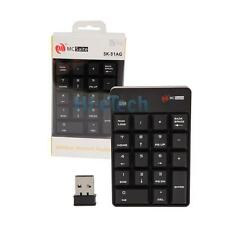 Wireless 2.4GHz Number Pad Numeric Keypad 18 Keys Mini Keyboard for PC Laptop
