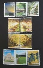JAPAN USED 2011 TRAVEL SERIES 10 VALUE VF COMPLETE SET SC# 3383 a - j