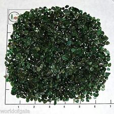 AVENTURINE DARK GREEN Chips 5-12 mm semi-tumbled 1/2 lb bulk xmini-xs stones