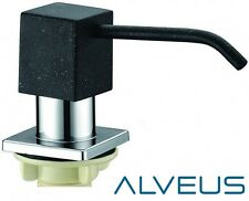 ALVEUS BLACK SQUARE SOAP WASHING UP LIQUID DISPENSER PUMP ACTION  KITCHEN SINK