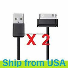 "2 PCs USB DATA SYNC CHARGER CABLE FOR SAMSUNG GALAXY TAB 2 II 7"" 8.9"" 10.1"""