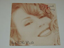"MARIAH CAREY joy to  the world 12"" RED VINYL RECORD PROMO"