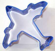 NEW BLUE AEROPLANE AIRPLANE SHAPED COOKIE BISCUIT PASTRY CUTTER A.HOUSE