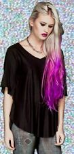 *Lip Service Black Fashion Victim Rayon Mesh Wing Jersey Tunic Top Goth Chic S