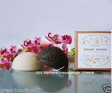 GJ's Organic ,Vegan  Facial & Body Cleansing Konjac Sponge -Set of  2 Sponge