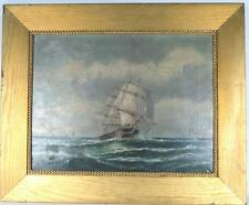 19TH C SHIP SEASCAPE OIL PAINTING: Lot 195