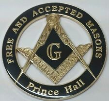 Prince Hall Affiliated Masonic Car Emblem in Black (Part# CE 25)