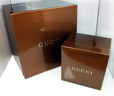 Gucci Golden Brown Watch Storage Double Box Set and Instructions Booklet