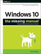 Windows 10: the Missing Manual by David Pogue (2015, Paperback)