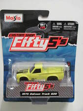 MAISTO CUSTOM SHOP FIFTY5'S 1975 DATSUN TRUCK 620 YELLOW