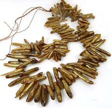 Natural Golden Sponge CORAL Branch Drop Beads 16""