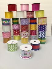 Lot Spring Wire Edged Ribbon  10yd Spools 120 yds total