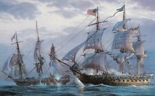 """Art Print Ship Naval battle Oil painting Picture Printed on canvas 16""""X24"""" P074"""