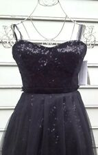 French Connection Little Black Dress Sequins And Tulle Sz  0