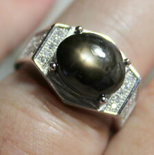 Natural Star Sapphire 9.50ct 925 Silver Ring,Vintage Estate Jewelry.Sz 7.75
