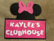 Personalized Minnie Mouse Clubhouse door sign. Great for Birthday Parties