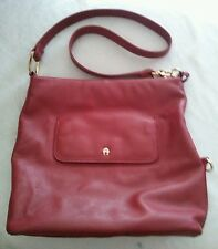 Etienne Aigner Red Leather Purse with Gold Hardware