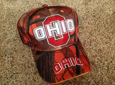 Ohio State Buckeyes Orange And Tree bark  Camo Baseball Hat
