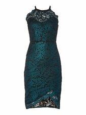 Gorgeous Lipsy Michelle Keegan Lace Bodycon Size 14 Green Teal Dress Party Club