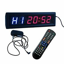 "Crossfit Interval Timer Stopwatch Wall Clock w/ IR Remote Control(14""x4""x1.5"")"