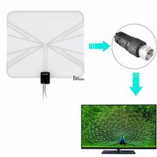 Indoor Digital TV Antenna HDTV DTV HD VHF UHF Flat Wave 50 Mile Range