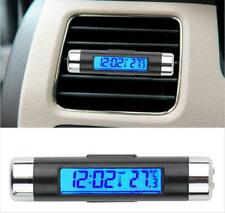 Blue LED Backlight Digital Display Clock Thermometer Car SUV Vehicle Vent Clip