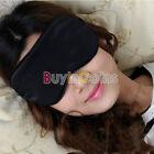 Eye Mask Cover Shade Blindfold Sleeping Travel Black BY AU