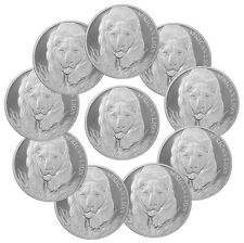 2017 Republic of Chad 1 oz. Silver African Lion - Lot of 10 Coins SKU43309