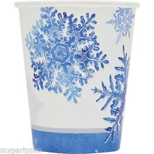 FROZEN SNOWFLAKE HOT/COLD PAPER CUPS Birthday Party Supplies FREE SHIPPING