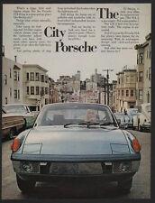 1973 PORSCHE 914 Blue Sports Car - 2.0 Litre Engine -The City Porsche VINTAGE AD