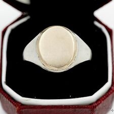 Antique Vintage Nouveau Sterling Silver 14k Gold English Dated Mens Signet Ring