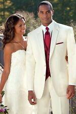 Ivory Tailcoat Groom (Jacket+Pants+Tie+Vest) custom Men Wedding Suits Tuxedo J01