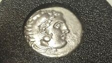 Alexander III The Great Macedon (336 - 323 BC) Silver Drachm AR 18mm approx 4gr