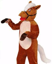 Henry the Horse Costume Adult Plush Furry Deluxe Animal Mascot Cosplay - Fast -