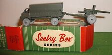 VINTAGE KEMLOW, SENTRY BOX, 3 TON BEDFORD LORRY & 25 pdr,DIECAST METAL BOXED SET