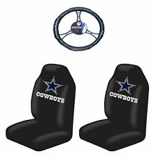 3pc NFL Dallas Cowboys Seat Covers with Steering wheel cover