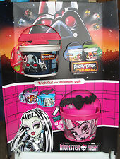 2013 McDonald's Anger Birds - Starwars / Monster High - USED Display with Pails