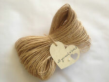 50m  2-Ply Premium Quality Natural Jute Twine Rustic String 1.5mm