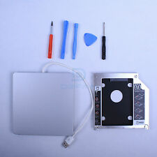 For Apple Macbook Pro Unibody 2nd HDD caddy SATA tray + USB superdrive enclosure