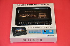 #1 Newest iPhone 5 Ultra Thin Slide Out Keyboard Case Cover in Black