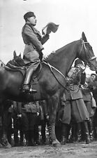 Mussolini on Horseback in Italy 1929, Photographic Reprint