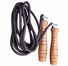 4Fit™ Pro Leather Skipping Speed Rope Adjustable Weighted