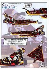 """Syhart Decals 1/48 DASSAULT MIRAGE 2000C TIGERMEET 2005 EC 1/12 """"CAMBRESIS"""""""