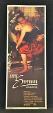 Original 1984 UNTIL SEPTEMBER Movie Poster 14 x 36 ROMANCE IN PARIS