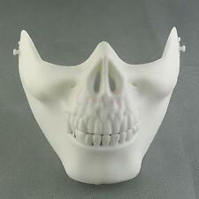 Simulation Mask White Airsoft Skull Half Face Costume Halloween Party April Fool