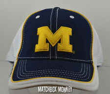U of M University of Michigan Wolverines Baseball Hat Ball Cap Soft Cloth Mesh