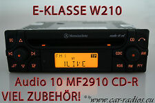 Mercedes Autoradio E-Klasse W210 S210 V210 Radio Audio 10 CD MF2910 Original OEM